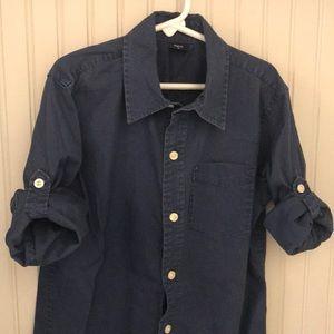 GapKids Shirts & Tops - Boys navy blue button down shirt